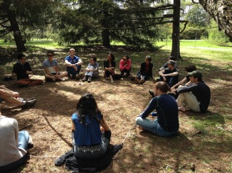 Workshop about the silent communication between trees, 2015